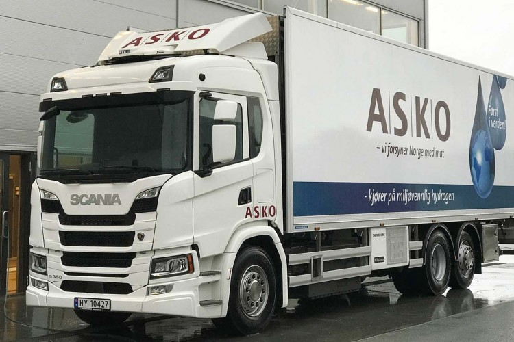 Scania fuel cell hydrogen asko